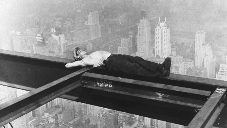 Positive Thinking - sleeping on a beam